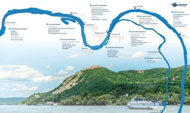 Újraindulnak a Dunakanyarban a hop-on hop-off hajójáratok