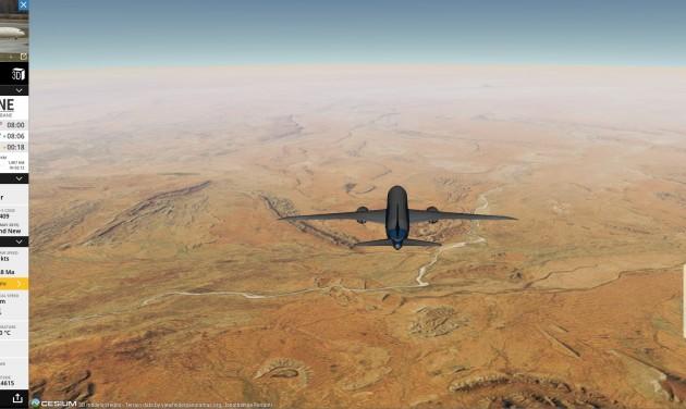 Repülőgépet rajzoltak az égre a Boeing tesztpilótái