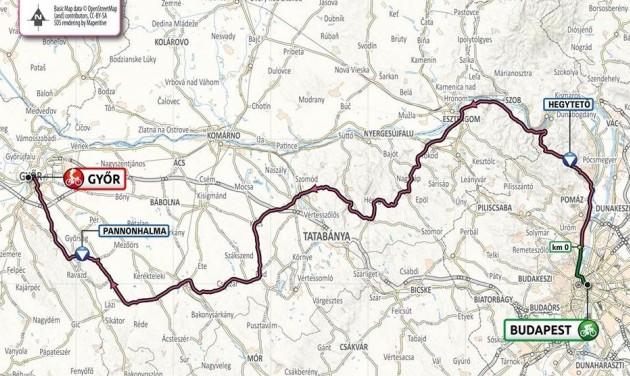 A Dunakanyart, Győrt, Fehérvárt és a Balatont is érinti a 2020-as Giro d'Italia