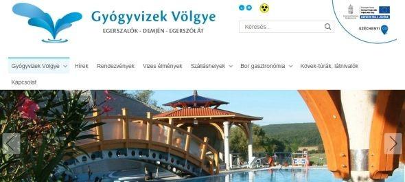 Megújult a Gyógyvizek Völgye TDM Egyesület honlapja