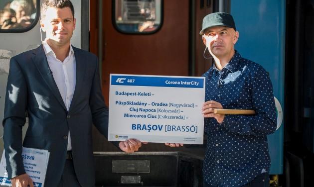 Elindult az első kétnyelvű vonat Brassóba
