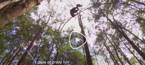 Drótkötélpálya a fák között - VIDEÓVAL