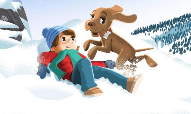 Kajla télen is elkíséri a gyerekeket Magyarország felfedezésére