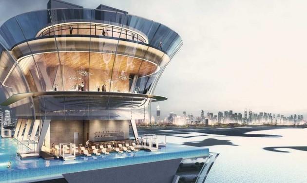 A világ legmagasabban fekvő végtelen medencéje épül Dubajban
