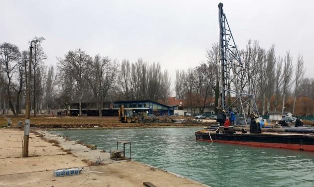 Épül az új balatonfüredi vitorláskikötő