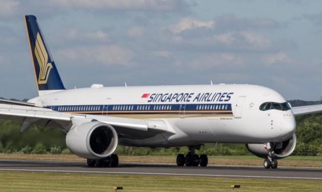 A világ első Airbus 350-900ULR-je a Singapore Airlinesnál