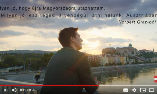 A budapesti Erzsébet-híd az új osztrák kampányban