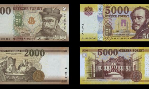 Szerdától lehet fizetni az új 2000 és 5000 forintossal