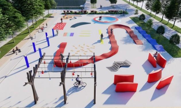 Motorikus képességeket fejleszt az épülő bécsi kerékpáros park