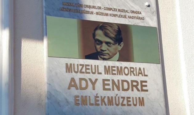 Megnyílt a felújított Ady Endre Emlékmúzeum Nagyváradon