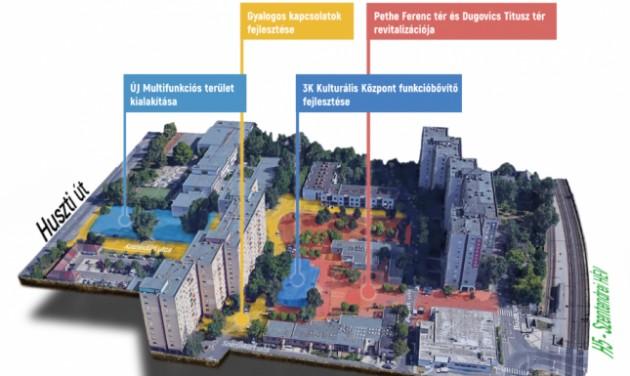 420 millió forintból újul meg Kaszásdűlő központi része