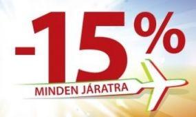 Napfényes promóció: 15 % kedvezmény minden járatra!