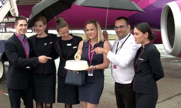 A Wizz Air 6 éve jár Debrecenbe