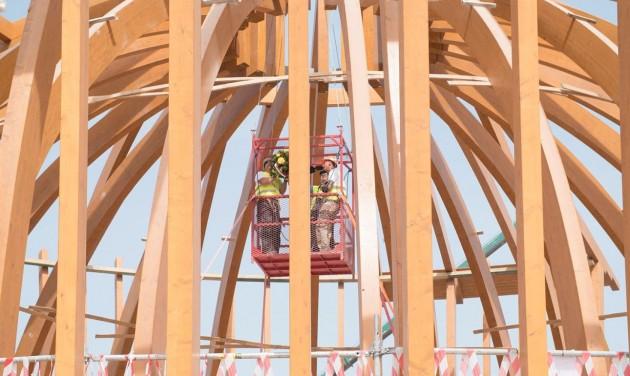 Szerkezetkész a dubaji expó magyar pavilonja