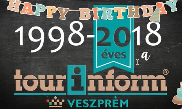 20 éves a Tourinform Veszprém