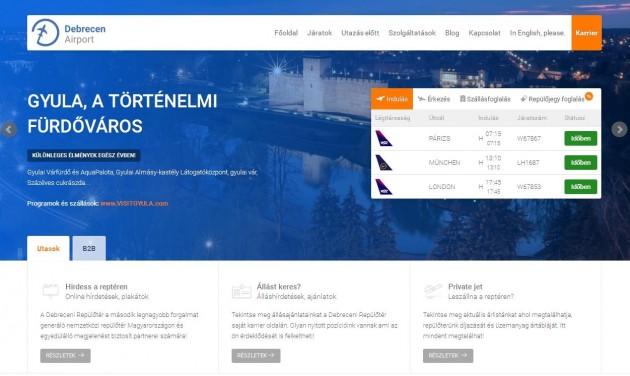 Megújult a debreceni repülőtér honlapja