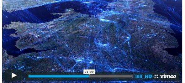 Lenyűgöző VIDEÓ az európai légiforgalomról