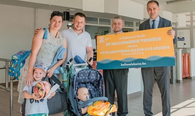 A 30 milliomodik vendéget köszöntötték a Zalakarosi Fürdőben