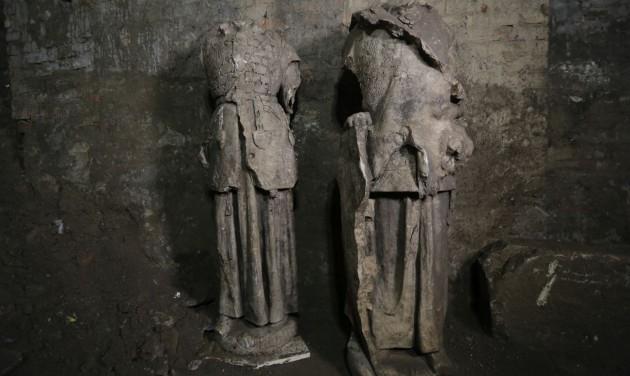 Szenzációs szoborleletek kerültek elő a budai Vár pincéjéből