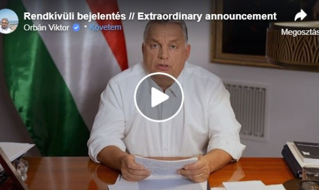 Orbán Viktor: kijárási korlátozás jön, bezárják a szórakozóhelyeket