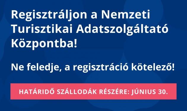 FIGYELEM: vasárnapig regisztrálhatnak a szállodák az NTAK-ba!
