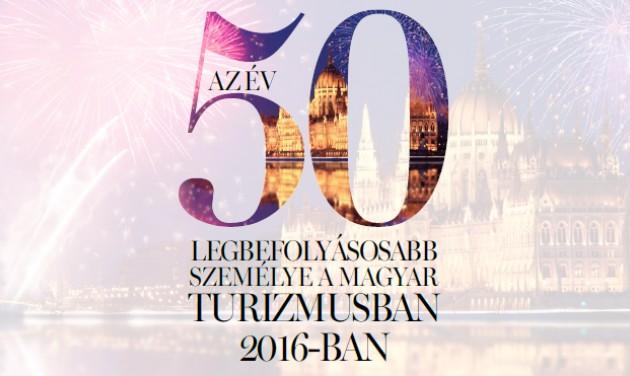 A magyar turizmus legbefolyásosabb személyei 2016-ban