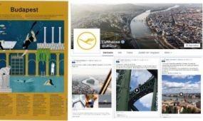 Több mint 2 millióan lájkolják Budapestet a Lufthansa Facebook oldalán