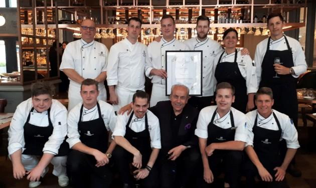 Díjat kapott a The Ritz Carlton Budapest Deák St. Kitchen étterme
