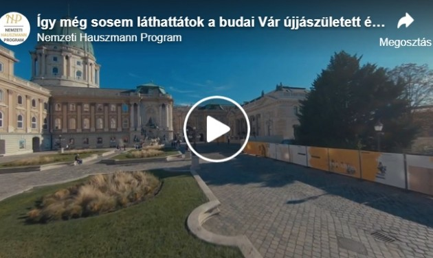 Fantasztikus drónvideó készült a budai Vár újjászületett épületeiről