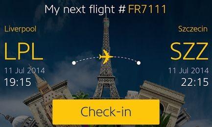 Mobiltelefonos alkalmazás a Ryanairtől
