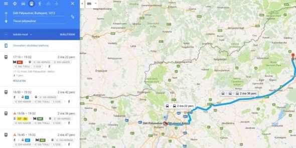 Még egyszerűbben tervezhetjük utazásainkat a Google Térképen