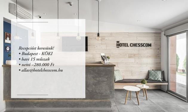 Recepciós, Hotel Chesscom, Budapest