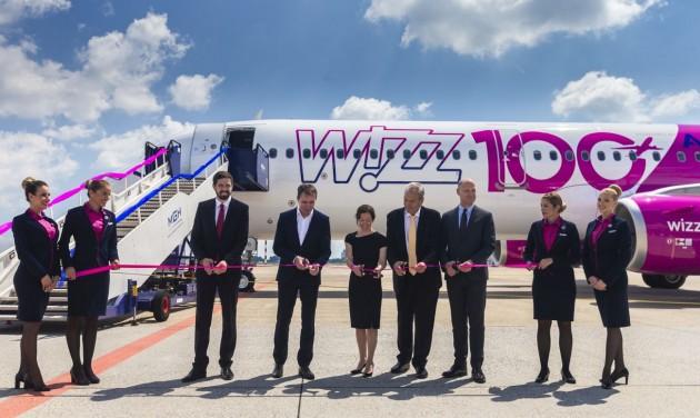 Századik Wizz Air gép, százmillió utas