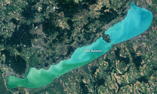 Műholdfelvétel bizonyítja: javul a Balaton vízminősége