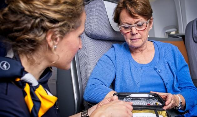 Mobil EKG-berendezést kapnak a Lufthansa hosszú távú járatai