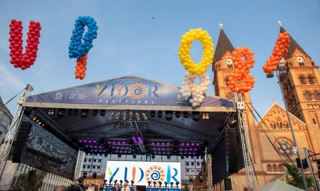 Tizenegy napos lesz az idei nyíregyházi Vidor Fesztivál