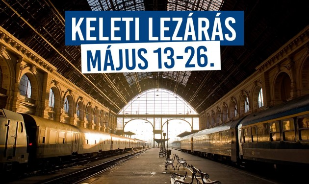 Budapest's main railway station to close for two weeks in May
