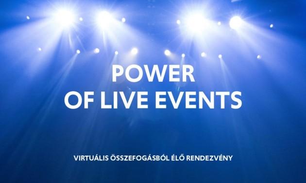 Később rendezik meg a #PowerOfLiveEvents élő eseményét