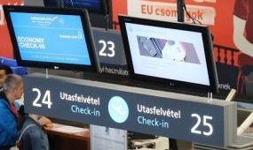 Gyorsul a becsekkolás a budapesti repülőtéren