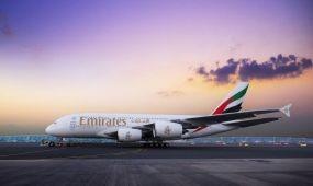 Több mint 220 ezer utast szállítottak az Emirates kétosztályos A380-asai