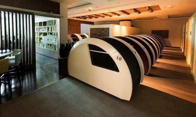 Új Sleep'n'fly váró Dubai nemzetközi repülőterén