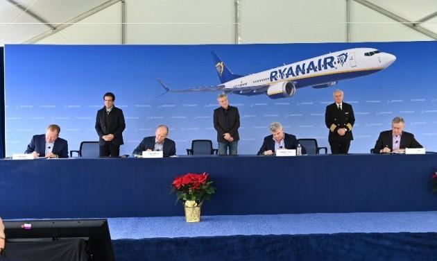Új, költséghatékony repülőgépeket rendelt a Ryanair
