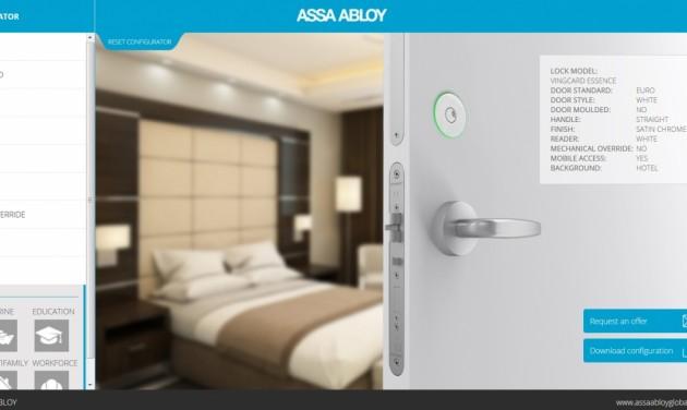 Online szállodai zár konfigurátor a VingCard-tól