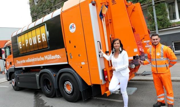 A kukásautók is elektromosak Bécsben