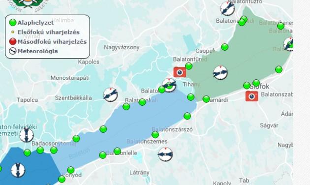 Megújul a viharjelzőrendszer a Balatonnál