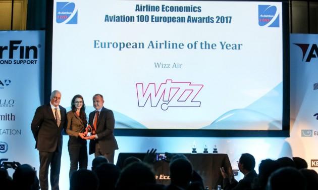 A Wizz Air lett az év Aviation 100 légitársasága