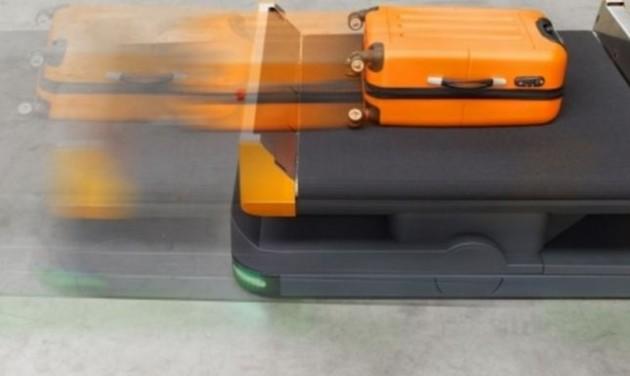 Robot poggyászszállító kocsik Hollandiában