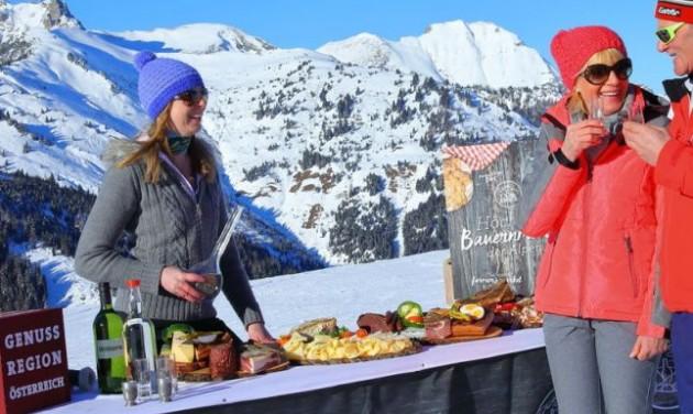 Termelői piac az Alpok csúcsán