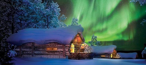 Gyönyörködj az ágyadból az északi fényben