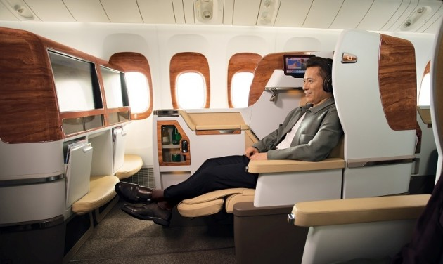 Az új Boeing fedélzetén Maléba